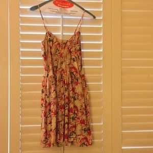 Parker floral silk dress size XS only worn once!